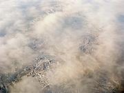 Flying in winter over the Gobi region.