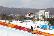 Yuto Totsuka, Japan, during the mens halfpipe qualifications at the Pyeongchang Winter Olympics on 13th February 2018 at Phoenix Snow Park in South Korea.