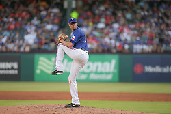 May 23, 2018 - Arlington, TX, U.S. - ARLINGTON, TX - MAY 23: Texas Rangers starting pitcher Doug Fister (38) winds up to throw during the game between the New York Yankees and the Texas Rangers on May 23, 2018 at Globe Life Park in Arlington, TX. (Photo by George Walker/Icon Sportswire) (Credit Image: © George Walker/Icon SMI via ZUMA Press)