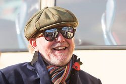 © Licensed to London News Pictures. 05/11/2017. Brighton, UK. BBC radio 2 Breakfast Show presenter Chris Evans arrives in a vintage bus in Brighton after taking part in the Bonham London to Brighton car run. Photo credit: Hugo Michiels/LNP