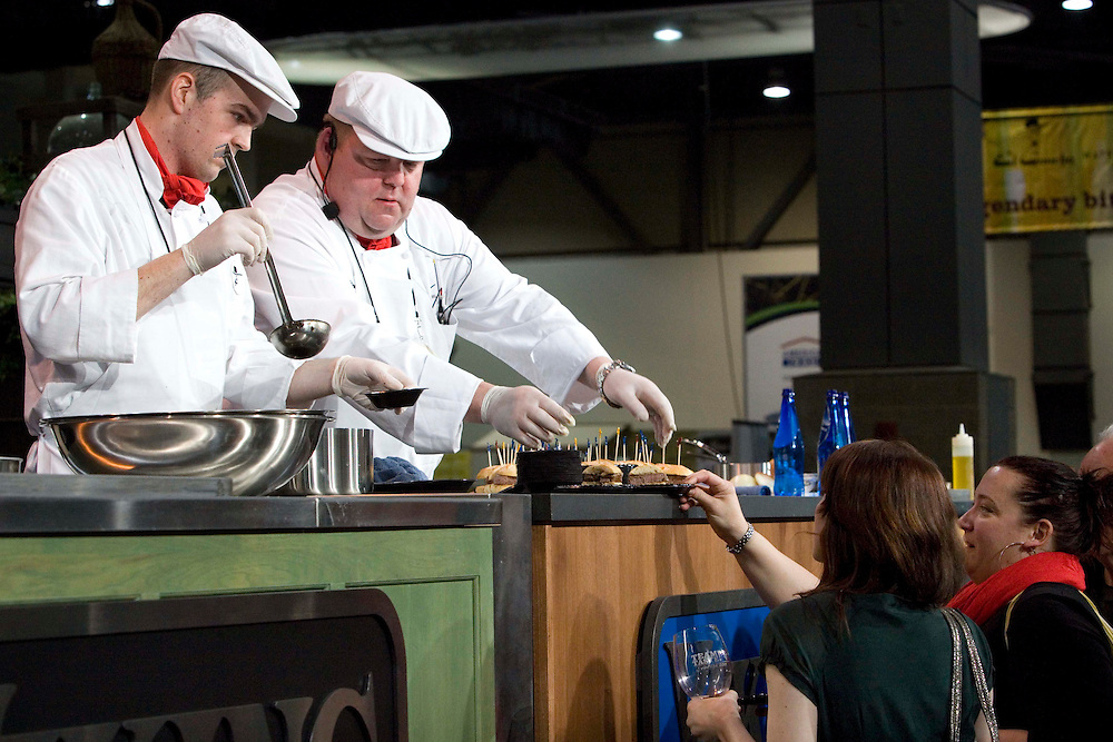 The Washtington State Wine commission organized the Taste Washington  Grand Tasting  event at the Seattle Qwest Event Center on 3/27/11. Chef Steve Cain - El Gaucho on the Viking Chef's stage.
