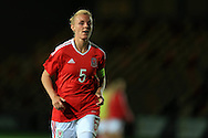 Sophie Ingle of Wales looks on. Friendly International Womens football, Wales Women v Republic of Ireland Women at Rodney Parade in Newport, South Wales on Friday 19th August 2016.<br /> pic by Andrew Orchard, Andrew Orchard sports photography.