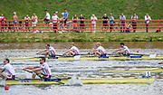 Poznan,  POLAND,  Sunday, 19/06/2016, Men's Lightweight Four, GBR LM4- Bow Chris BARTLEY, Mark ALDRED, Jonno CLEGG, Peter CHAMBERS, FISA World Cup III, Malta Lake.  FISA World Cup III, Malta Lake.[Mandatory Credit; Peter SPURRIER/Intersport-images]
