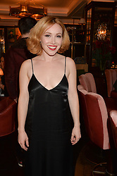LONDON, ENGLAND 7 DECEMBER 2016: Daisy Lewis at an intimate performance by kylie Minogue at The Ivy, 5 West Sreet, London, England. 7 December 2016.