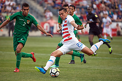 May 28, 2018 - Chester, PA, U.S. - CHESTER, PA - MAY 28: United States forward Rubio Rubin (23) takes a shot during the international friendly match between the United States and Bolivia at the Talen Energy Stadium on May 28, 2018 in Chester, Pennsylvania. (Photo by Robin Alam/Icon Sportswire) (Credit Image: © Robin Alam/Icon SMI via ZUMA Press)
