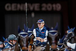 EXELL Boyd (AUS), Bajnok, Barny 68, Clinton Star, Rocket 123<br /> Genf - CHI Geneve Rolex Grand Slam 2019<br /> Siegerehrung<br /> FEI Driving World Cup™ presented by Radio Télévision Suisse<br /> with drive off<br /> 15. Dezember 2019<br /> © www.sportfotos-lafrentz.de/Stefan Lafrentz