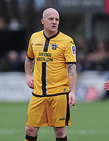 Football - 2016 / 2017 FA Cup - Fourth Round: Sutton United vs. Leeds United<br /> <br /> Nicky Bailey of Sutton at Gander Green Lane.<br /> <br /> COLORSPORT/ANDREW COWIE