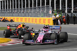 June 9, 2019 - Montreal, Canada - xa9; Photo4 / LaPresse.09/06/2019 Montreal, Canada.Sport .Grand Prix Formula One Canada 2019.In the pic: Lance Stroll (CDN) Racing Point F1 Team RP19 and Pierre Gasly (FRA) Red Bull Racing RB15 (Credit Image: © Photo4/Lapresse via ZUMA Press)