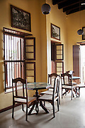 A cafe in the old, colonial, Leven House in Mombasa, Kenya