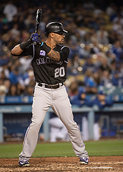 May 22, 2018 - Los Angeles, CA, U.S. - LOS ANGELES, CA - MAY 22: Colorado Rockies' Ian Desmond (20) during a Major League Baseball game between the Colorado Rockies and the Los Angeles Dodgers on May 22, 2018 at Dodger Stadium in Los Angeles, CA. (Photo by Kyusung Gong/Icon Sportswire) (Credit Image: © Kyusung Gong/Icon SMI via ZUMA Press)