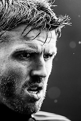 *editor's note. black and white conversion* Michael Carrick of Manchester United looks on - Mandatory byline: Rogan Thomson/JMP - 07966 386802 - 30/08/2015 - FOOTBALL - Liberty Stadium - Swansea, Wales - Swansea City v Manchester United - Barclays Premier League.