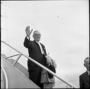 The Irish ambassador to the UN, Freddie Boland, was elected president of the general assembly for its session of 1960. He is shown here returning to the U.N..19.08.1961