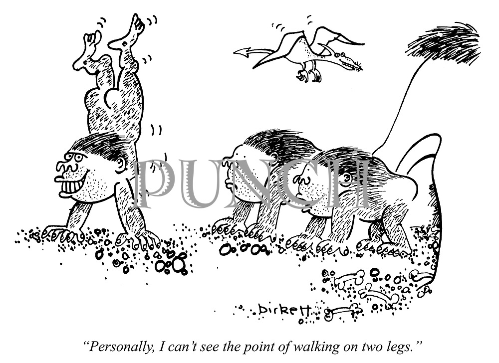 """""""Personally, I can't see the point of walking on two legs."""""""