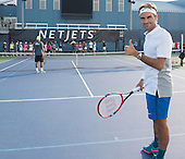 Aug 25, 2015 - NetJets Roger Federer Tennis Clinic - New York