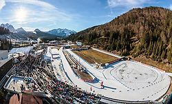 13.12.2015, Biathlonarena, AUT, IBU Weltmeisterschaft Biathlon, Hochfilzen, im Bild Übersicht des Biathlonstadion Hochfilzen // a Overview of the Biathlon Stadium during the Worldcup as Preview for the upcoming IBU Biathlon World Championships 2017 at the Biathlonarena, Hochfilzen, Austria on 2015/12/13. EXPA Pictures © 2015, PhotoCredit: EXPA/ JFK
