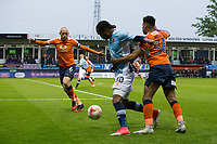 Blackpool's Nathan Delfouneso in action during todays match  <br /> <br /> Photographer Craig Mercer/CameraSport<br /> <br /> The EFL Sky Bet League Two Play-Off Semi Final Second Leg - Luton Town v Blackpool - Thursday 18th May 2017 - Kenilworth Road - Luton<br /> <br /> World Copyright © 2017 CameraSport. All rights reserved. 43 Linden Ave. Countesthorpe. Leicester. England. LE8 5PG - Tel: +44 (0) 116 277 4147 - admin@camerasport.com - www.camerasport.com