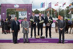 Chardon IJsbrand, NED, Simonet Edouard, BEL, Sandmann Christophe, GER<br /> FEI European Driving Championships - Goteborg 2017 <br /> © Hippo Foto - Dirk Caremans