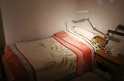 November 9, 2016 - Ramallah, West Bank, Palestinian Territory - A picture shows a recreation of the small bedroom where late Palestinian leader Yasser Arafat spent his final years at the late Palestinian leader Yasser Arafat's Museum in the West Bank city of Ramallah on November 9, 2016. The Yasser Arafat Museum opened in Ramallah, shedding light on the long-time Palestinian leader's life and offering a glimpse of history -- along with a number of his trademark black-and-white keffiyehs  (Credit Image: © Shadi Hatem/APA Images via ZUMA Wire)