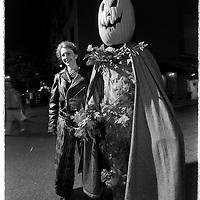 The pumpkinman needs a chaperon...