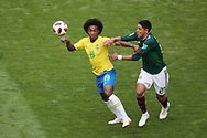 Willian of Brazil and Edson Alvarez of Mexico during the 2018 FIFA World Cup Russia, round of 16 football match between Brazil and Mexico on July 2, 2018 at Samara Arena in Samara, Russia - Photo Tarso Sarraf / FramePhoto / ProSportsImages / DPPI