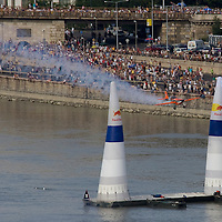 Red Bull Air Race international air show on the national holiday over the river Danube accompanying the anniversary of Hungarian state foundation. Budapest, Hungary. Sunday, 20. August 2006. ATTILA VOLGYI