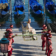 VENICE, ITALY - JUNE 12:  The Queen of Cyprus during the Historical Pageant ahead of the Regatta of the Ancient Maritime Republics on June 12, 2011 in Venice, Italy. The idea of the Regatta of the Ancient Maritime Republics was realized in 1955 and the first edition took place in Genova.