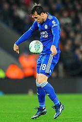 Christian Fuchs of Leicester City controls the ball- Mandatory by-line: Nizaam Jones/JMP- 27/11/2018- FOOTBALL - King Power Stadium- Leicester, England - Leicester City v Southampton - Carabao Cup