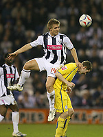 Photo: Rich Eaton.<br /> <br /> West Bromwich Albion v Sheffield Wednesday. Coca Cola Championship. 13/04/2007. West Broms Martin Albrechtsen jumps highest