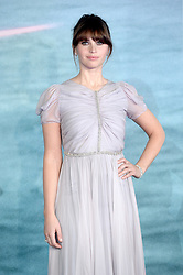 Felicity Jones attending the Rogue One: A Star Wars Story Premiere, at the Tate Modern, London. Picture Credit Should Read: Doug Peters/EMPICS Entertainment