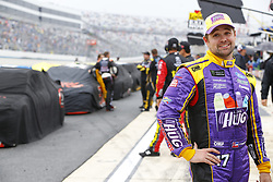 May 6, 2018 - Dover, Delaware, United States of America - Ricky Stenhouse, Jr (17) hangs out on pit road during a rain delay for the AAA 400 Drive for Autism at Dover International Speedway in Dover, Delaware. (Credit Image: © Chris Owens Asp Inc/ASP via ZUMA Wire)