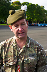 Pictured: Lt Coronel Campbell Close is glad to see his guts home safe.<br /> <br /> 2 SCOTS arriving home from Iraq deployment. OP Shader troops from The Royal Highland Fusiliers, 2nd Battalion The Royal Regiment of Scotland have been training local forces since December 2017. The troops have been training the local Iraqi forces for the last six months<br /> <br /> <br /> Ger Harley | EEm 19 June 2018