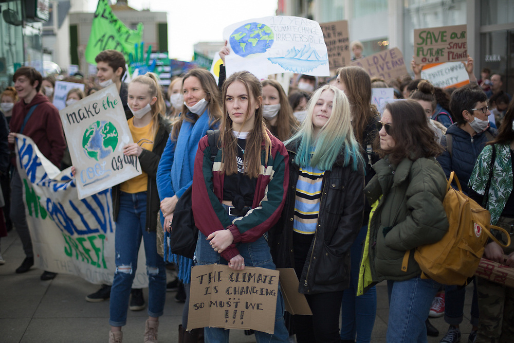Student strike for climate in Brighton.