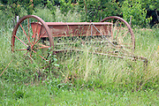 old inactive seed drill
