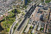 Nederland, Noord-Holland, Haarlem, 09-04-2014; Station Haarlem en omgeving, <br /> Railway station.<br /> luchtfoto (toeslag op standard tarieven);<br /> aerial photo (additional fee required);<br /> copyright foto/photo Siebe Swart