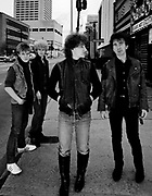 Photo of U2 - Bono, Larry Mullen and Adam Clayton, The Edge on a day off in Atlanta - USA Tour 1981