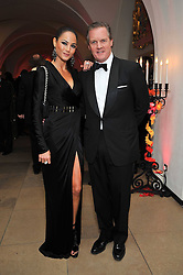 DIANE STAFRACE and ROBERT HISSOM at the Royal Rajasthan Gala 2009 benefiting the Indian Head Injury Foundation held at The Banqueting House, Whitehall, London on 9th November 2009.