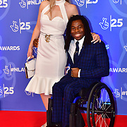 Linda Harrison and Ade Adepitan attends BBC1's National Lottery Awards 2019 at BBC Television Centre, 101 Wood Lane, on 15 October 2019, London, UK.