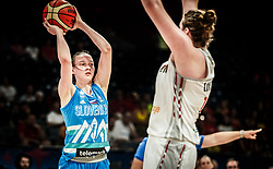 Marusa Senicar of Slovenia during basketball match between Women National teams of Belgium and Slovenia in the Qualification for the Quarter-Finals of Women's Eurobasket 2019, on July 2, 2019 in Belgrade Arena, Belgrade, Serbia. Photo by Vid Ponikvar / Sportida