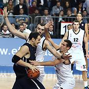 Anadolu Efes's Ermal KURTOGLU (L) during their Turkish Airlines Euroleague Basketball Group C Game 6 match Anadolu Efes between Partizan at Sinan Erdem Arena in Istanbul, Turkey, Wednesday, November 23, 2011. Photo by TURKPIX