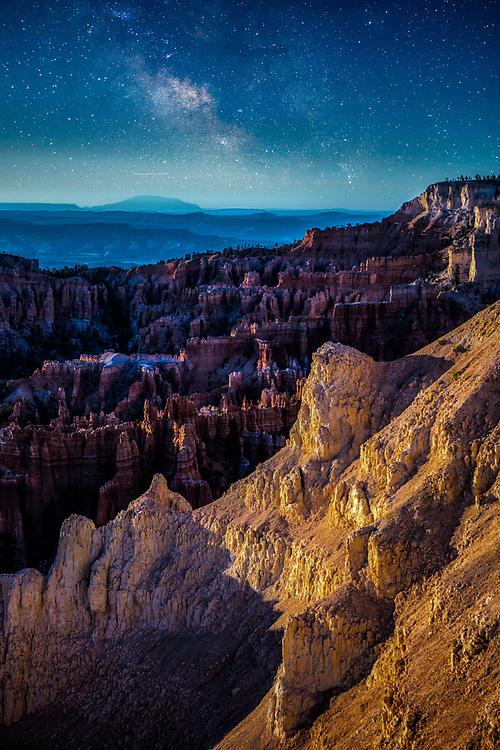 Night Sky Scenic Landscape at Bryce Canyon National Park in Utah. ©justinalexanderbartels.com