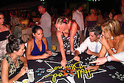 Odette Yustman, Olivia Munn and Dave Annable and Dayna Fernandez..Celebrities attend Hollywood Domino Celebrity Golf Tournament Gala during Labor Day weekend in Puerto Rico..Palomino Island, Puerto Rico, USA..Saturday, September 03, 2011..Photo By CelebrityVibe.com..To license this image please call (323) 425-4035; or .Email: CelebrityVibe@gmail.com ; .website: www.CelebrityVibe.com.**EXCLUSIVE**