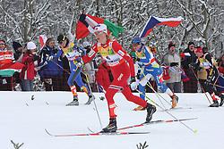 Valentina Shevchenko, Kristin Stoermer Steira, Aino Kaisa Saarinen and Justyna Kowalczyk at Ladies` Pursuit 7,5 km Classic + 7,5 km Free at FIS Nordic World Ski Championships Liberec 2008, on February 21, 2009, in Vestec, Liberec, Czech Republic. (Photo by Vid Ponikvar / Sportida)