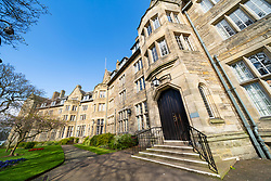 View of St Salvator's Hall of residence , student accommodation, at St Andrews University, Fife, Scotland, UK