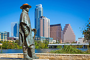 Stevie Ray Vaughan Memorial is a bronze sculpture of Stevie Ray Vaughan by Ralph Helmick, located at the intersection of Town Lake Hike and Bike Trail (South Bank at South 1st and Riverside Drive) in Austin, Texas, in the United States. The work was installed in 1994 and is maintained by Austin Parks & Recreation. It has become a popular tourist attraction, and often has flowers and other devotions at its base.