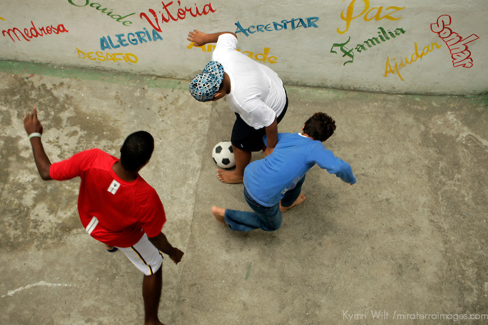 South America, Brazil, Rio de Janiero. Favela kids at play in Vila canoas.