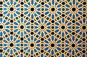 SPAIN, ANDALUSIA, SEVILLE Alcazar; mosaic tiles or 'azulejos'