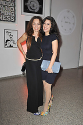 Left to right, JEANNE MARINE and FATIMA BHUTO at the TOD'S Art Plus Drama Party at the Whitechapel Gallery, London on 24th March 2011.
