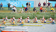 Eton Dorney, Windsor, Great Britain,..2012 London Olympic Regatta, Dorney Lake. Eton Rowing Centre, Berkshire[ Rowing]...Description;  Heat of the  W8+ GBR W8+ .Olivia WHITLAM (b) , Louisa REEVE (2) , Jessica EDDIE (3) , Lindsey MAGUIRE (4) , Natasha PAGE (5) , Annabel VERNON (6) , Katie GREVES (7) , Victoria THORNLEY (s) , Caroline O'CONNOR (c).. Dorney Lake. 10:54:10  Tuesday  31/07/2012.  [Mandatory Credit: Peter Spurrier/Intersport Images].Dorney Lake, Eton, Great Britain...Venue, Rowing, 2012 London Olympic Regatta...
