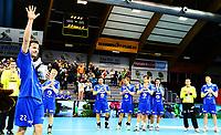 Håndball ,26. mars 2014 , Eliteserien herrer<br /> Drammen - Follo<br /> Gøran Sørheim , DHK takker av med laget i bakgrunn
