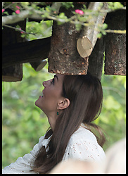 May 20, 2019 - London, London, United Kingdom - Image licensed to i-Images Picture Agency. 20/05/2019. London, United Kingdom. The Duchess of Cambridge climbs up to the tree house in her  ÔBack to NatureÃ• Garden that she helped design at the Chelsea Flower Show in London. (Credit Image: © Stephen Lock/i-Images via ZUMA Press)